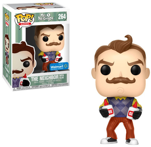 Funko Hello Neighbor POP! Games The Neighbor with Glue Exclusive Vinyl Figure #264 [Damaged Package]