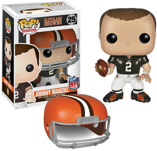 Funko NFL Cleveland Browns POP! Sports Football Johnny Manziel Vinyl Figure #25 [Damaged Package]