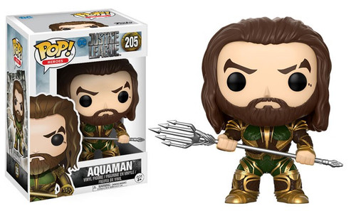 Funko DC Justice League Movie POP! Movies Aquaman Vinyl Figure #205 [Justice League, Damaged Package]
