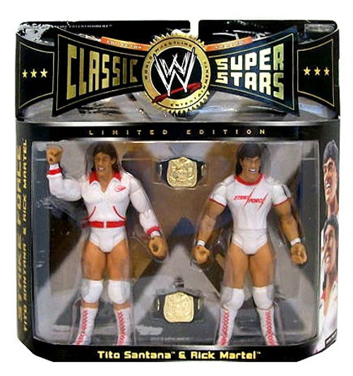 WWE Wrestling Classic Superstars Series 6 Rick Martel & Tito Santana Exclusive Action Figure 2-Pack [Damaged Package]
