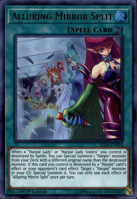 YuGiOh Legendary Duelists Sisters of the Rose Ultra Rare Alluring Mirror Split LED4-EN003