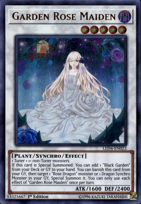 YuGiOh Legendary Duelists Sisters of the Rose Ultra Rare Garden Rose Maiden LED4-EN023