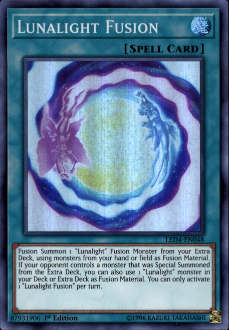 YuGiOh Legendary Duelists Sisters of the Rose Super Rare Lunalight Fusion LED4-EN048