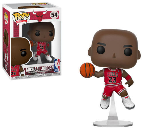 Funko NBA Chicago Bulls POP! Sports Basketball Michael Jordan Vinyl Figure #54 [Red Uniform, Flying]
