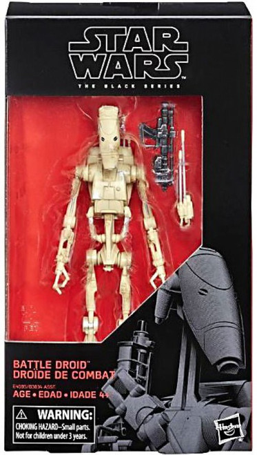 Star Wars Phantom Menace Black Series Wave 31 Battle Droid Action Figure