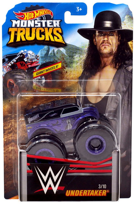 Hot Wheels Monster Trucks WWE Undertaker Diecast Car