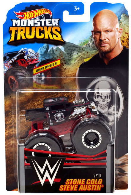 Hot Wheels Monster Trucks WWE Stone Cold Steve Austin Diecast Car