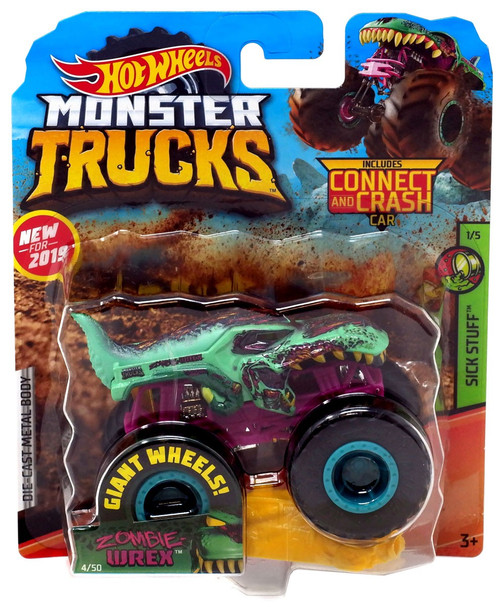 Hot Wheels Monster Trucks Sick Stuff Zombie Wrex Die-Cast Car #1/5