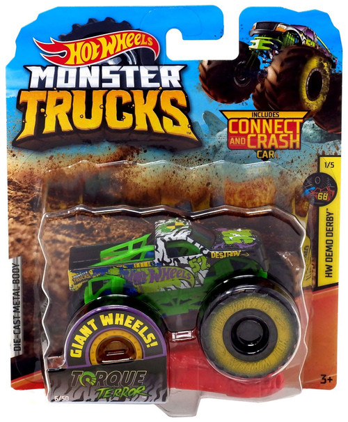 Hot Wheels Monster Trucks HW Demo Derby Torque Terror Die-Cast Car #1/5