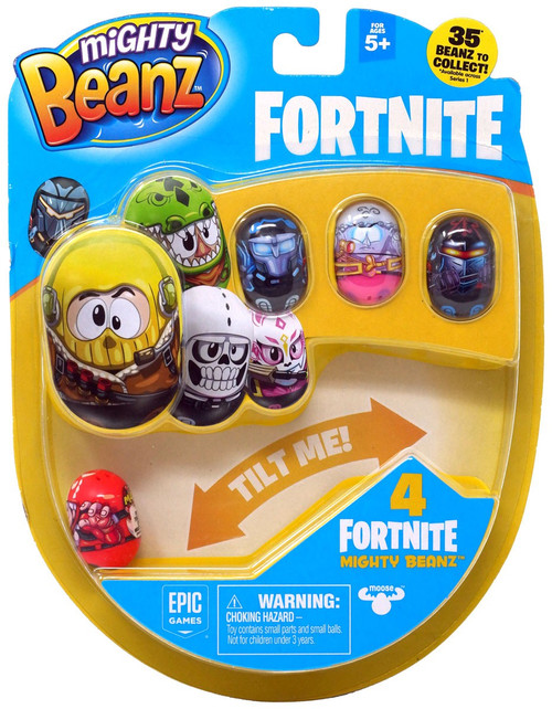 Mighty Beanz Fortnite Tricera Ops 4-Pack