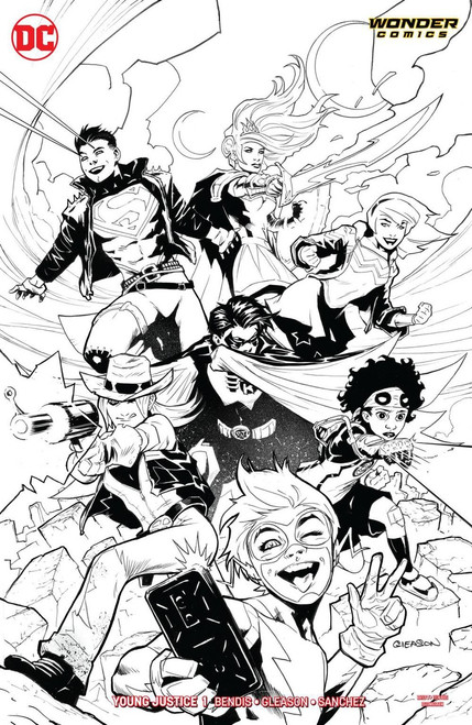 DC Young Justice #1 Comic Book [Gleason Variant Cover]