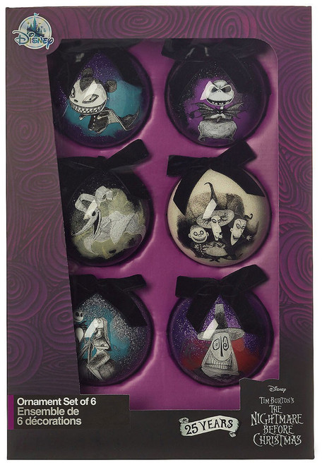 Disney 25th Anniversary Nightmare Before Christmas Exclusive Ornament Set