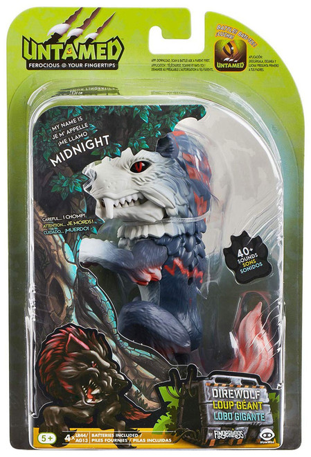Fingerlings Untamed Direwolf Midnight Figure