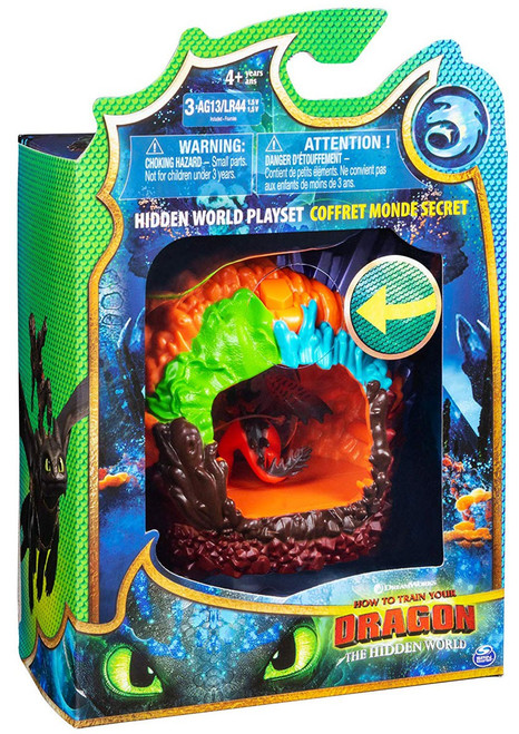 How to Train Your Dragon The Hidden World Hookfang Dragon Lair Playset