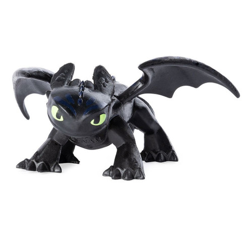 How to Train Your Dragon The Hidden World Mystery Dragon Night Fury (Toothless) 1-Inch [Loose]
