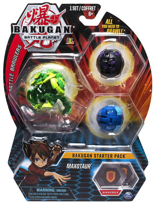 Bakugan Battle Planet Battle Brawlers Starter Pack Maxotaur 3-Figure Set