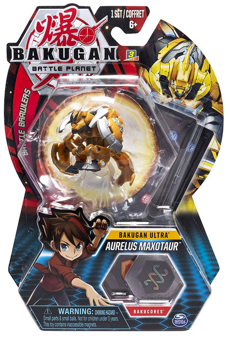 Bakugan Battle Planet Battle Brawlers Ultra Aurelus Maxotaur