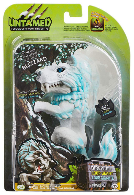 Fingerlings Untamed Direwolf Blizzard Figure