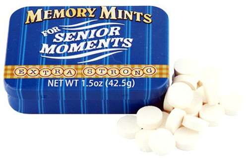 Fun Mints Memory Mints For Senior Moments Candy Tin