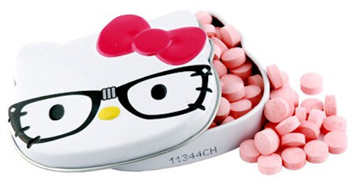 Hello Kitty Cherry Nerd Sours Candy Tin [Red Bow]