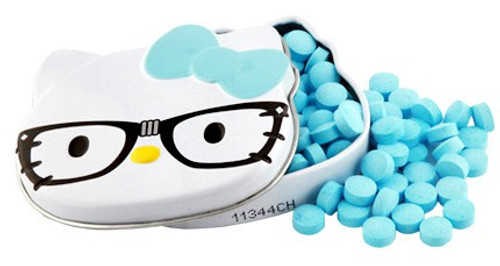 Hello Kitty Blue Raspberry Nerd Sours Candy Tin [Blue Bow]