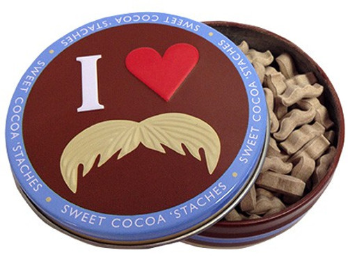 Moustache Sweet Cocoa 'Staches Candy Tin