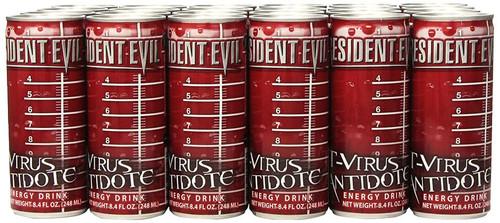 Resident Evil Case of 24 T-Virus Antidote 8.4 Ounce Energy Drinks