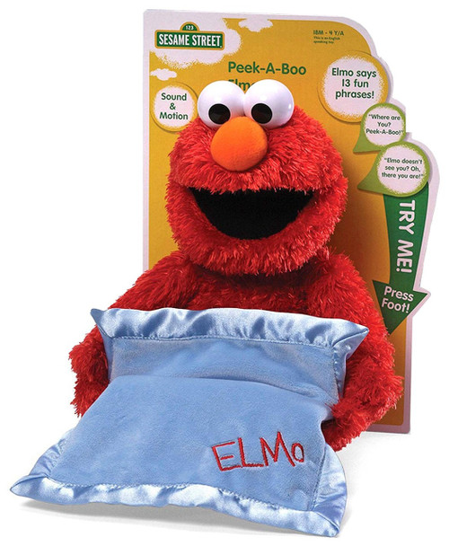 Sesame Street Peek-a-Boo Elmo 15-Inch Plush with Sound