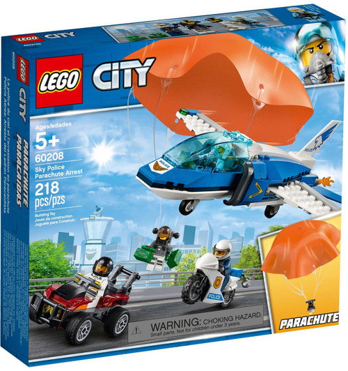 LEGO City Sky Police Parachute Arrest Set #60208