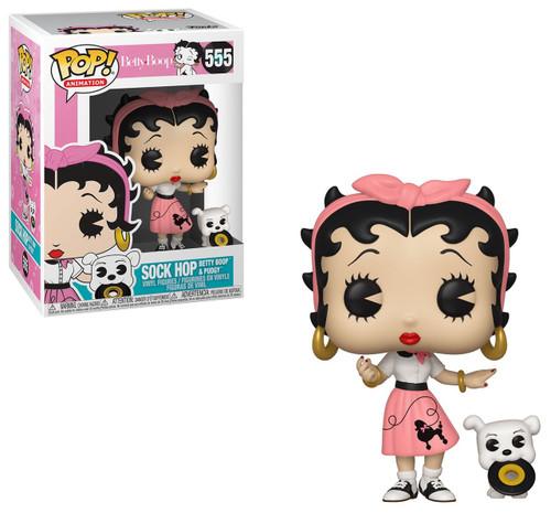 Funko POP! Animation Sock Hop Betty Boop & Pudgy Vinyl Figure #555