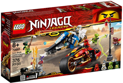 LEGO Ninjago Legacy Kai's Blade Cycle & Zane's Snowmobile Set #70667