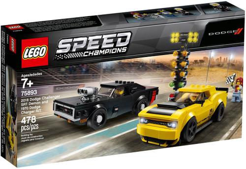 LEGO Speed Champions 2018 Dodge Challenger SRT Demon & 1970 Dodge Charger R/T Set #75893