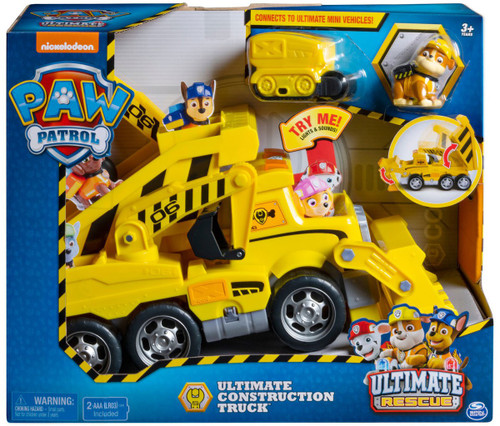 Paw Patrol Ultimate Rescue Ultimate Construction Truck Vehicle