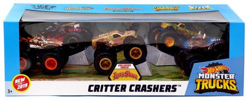 Hot Wheels Monster Trucks Critter Crashers Diecast Car 5-Pack