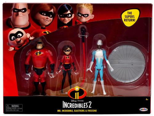 Disney / Pixar Incredibles 2 Mr. Incredible, Elastigirl & Frozone Action Figure 2-Pack