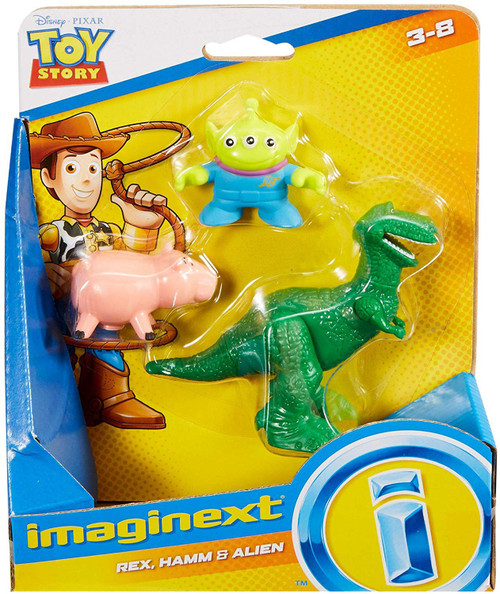 Fisher Price Disney / Pixar Imaginext Toy Story Rex, Hamm & Alien Figure 3-Pack Set