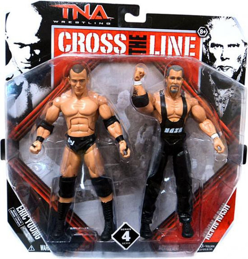 TNA Wrestling Cross the Line Series 4 Eric Young & Kevin Nash Action Figure 2-Pack