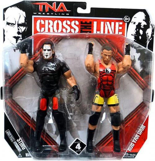 TNA Wrestling Cross the Line Series 4 Sting & Rob Van Dam Action Figure 2-Pack
