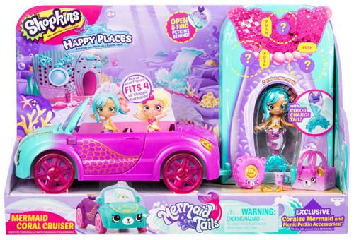 Shopkins Happy Places Season 6 Mermaid Tails Mermaid Coral Cruiser Vehicle Playset