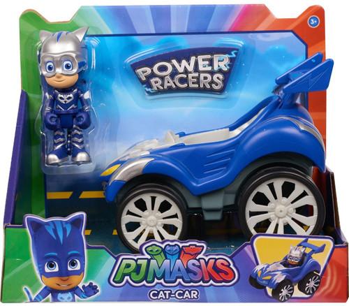Disney Junior PJ Masks Power Racers Cat-Car Vehicle & Figure