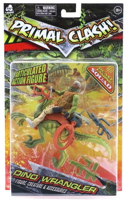 Primal Clash Dino Wrangler Raptor Exclusive Action Figure