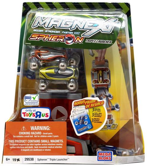 Mega Bloks Magnext Spheron Triple launcher Exclusive Set #29538