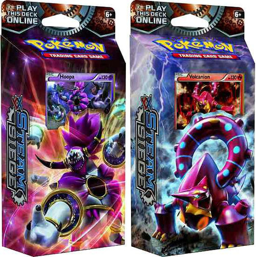 Pokemon Trading Card Game XY Steam Siege Gears of Fire & Ring of Lightning Set of Both Theme Decks
