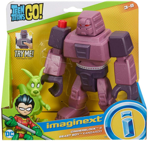 Fisher Price Teen Titans Go! Imaginext Cinderblock & Beast Boy Kangaroo 3-Inch Figure Set