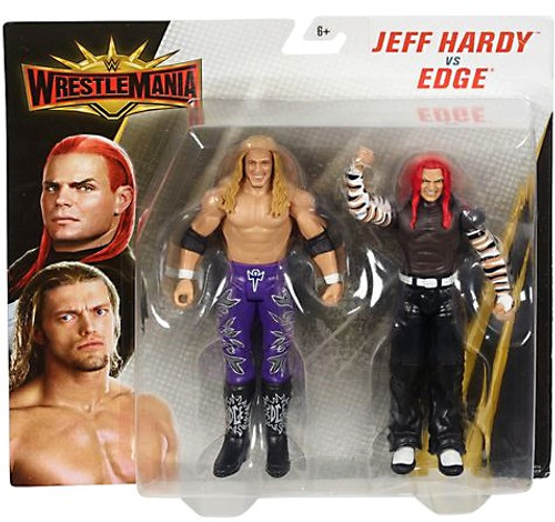 WWE Wrestling Battle Pack WrestleMania 35 Jeff Hardy & Edge Action Figure 2-Pack
