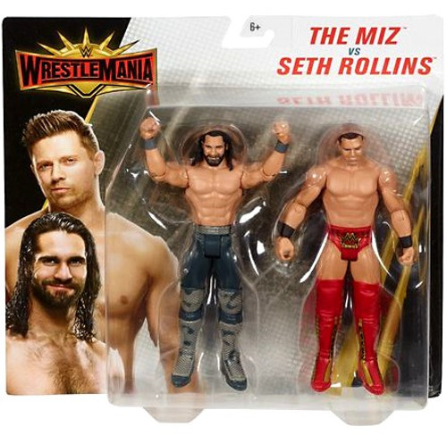 WWE Wrestling Battle Pack WrestleMania 35 Seth Rollins & The Miz Action Figure 2-Pack