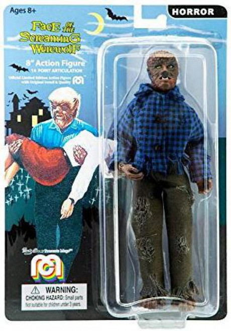Horror Face of the Screaming Werewolf Wolfman Action Figure