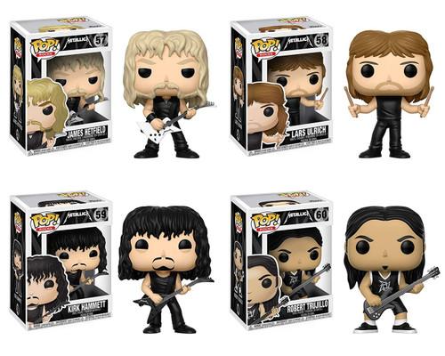 Funko Metallica POP! Rocks James Hetfield, Lars Ulrich, Kirk Hammett & Robert Trujillo Vinyl Figures [Set of 4]