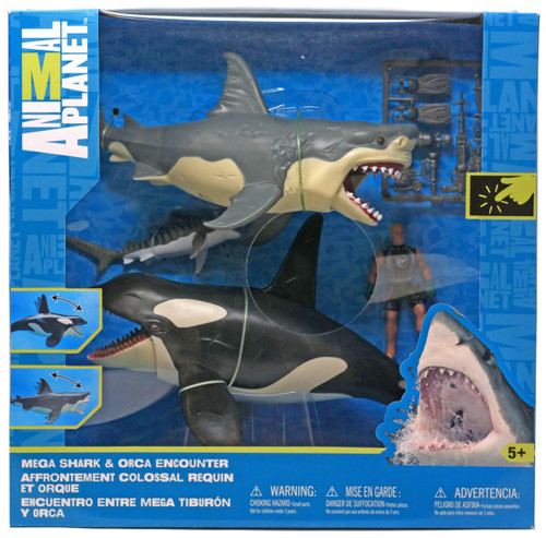 Animal Planet Mega Shark & Orca Encounter Playset
