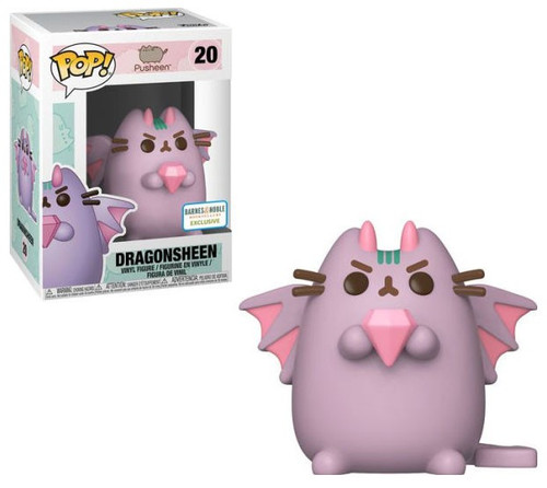 Funko Pusheen POP! Animation Dragonsheen Exclusive Vinyl Figure #20 [Pink, with Gem, Damaged Package]